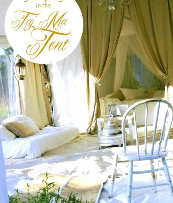 Glamping, my way! http://homewardfounddecor.blogspot.com/2013/06/glamping-with-style.html