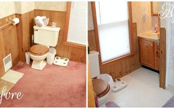 vinyl tile flooring install, bathroom ideas, flooring, tile flooring, tiling, The Before After