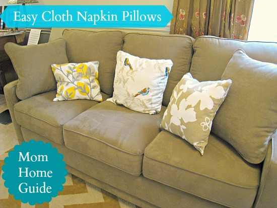 DIY Cloth Napkin Pillows for a New Sofa | Hometalk