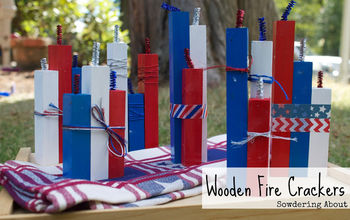 Mini Wooden Fire Crackers #patriotic