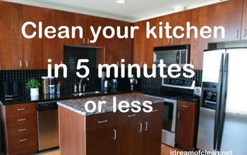 how to clean your kitchen in 5 minutes or less, cleaning tips, kitchen design