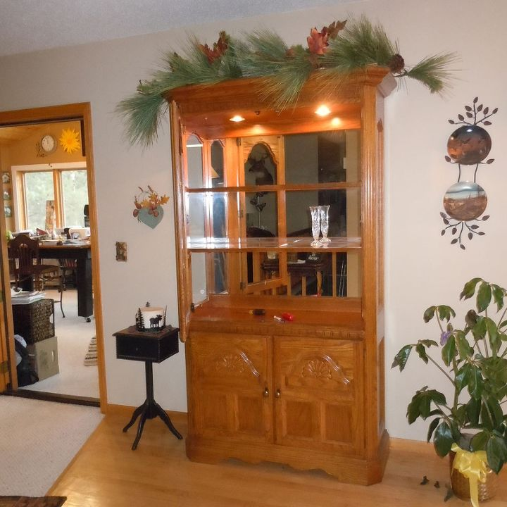 80 s hutch, chalk paint, painted furniture, BEFORE