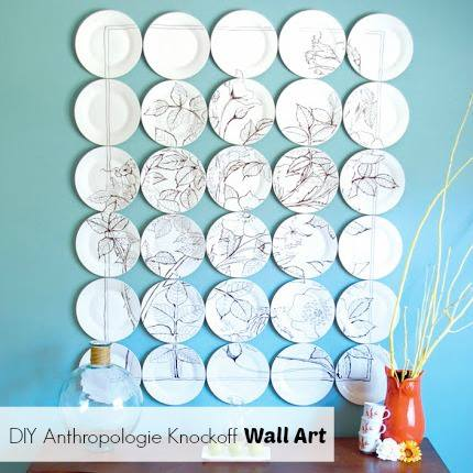 anthropologie inspired wall art, crafts, home decor