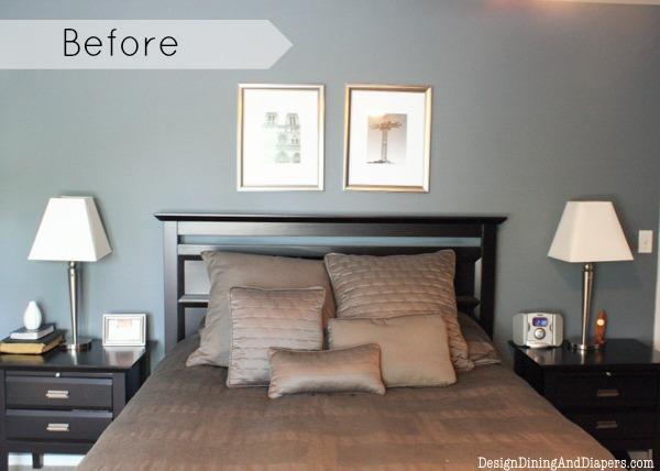 modern farmhouse bedroom makeover, bedroom ideas, home decor, repurposing upcycling, wall decor