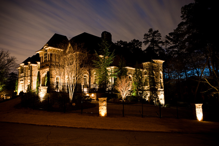 custom in town estate lighting project in buckhead brookhaven ga, curb appeal, electrical, lighting