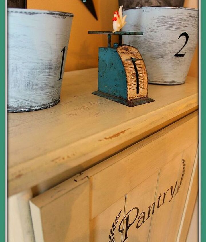 come see how i turned this old sauder cupboard into a vintage looking pantry, closet, diy, how to, repurposing upcycling