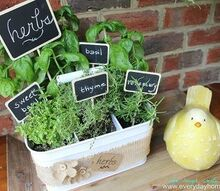 utensil caddy herb garden, chalkboard paint, crafts, flowers, gardening
