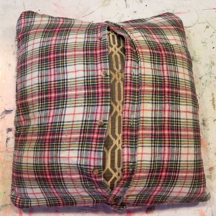 When you sew up the side of button down shirts, they become instant envelope-style covers.  http://www.madincrafts.com/2013/11/plaid-thrift-store-shirts-to-cozy-throw.html