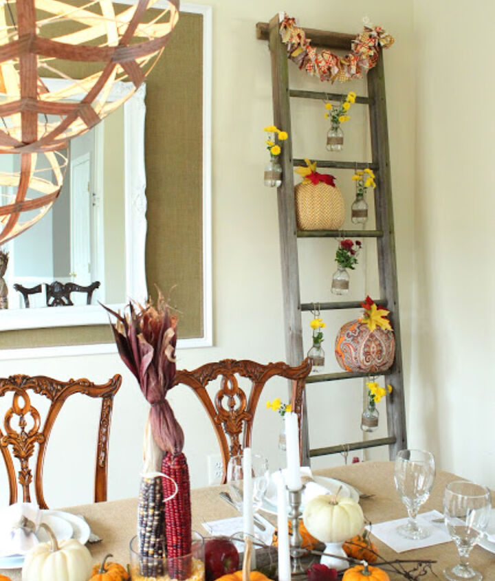 trash to treasure thanksgiving tablescape, seasonal holiday d cor, thanksgiving decorations