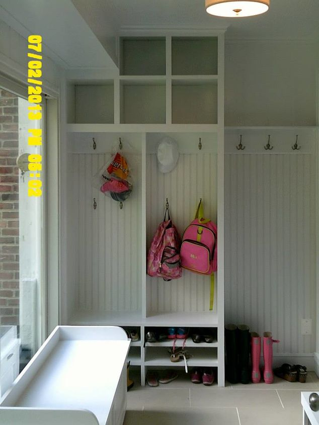 Mudroom Cubbies Beadboard And Benches Hometalk
