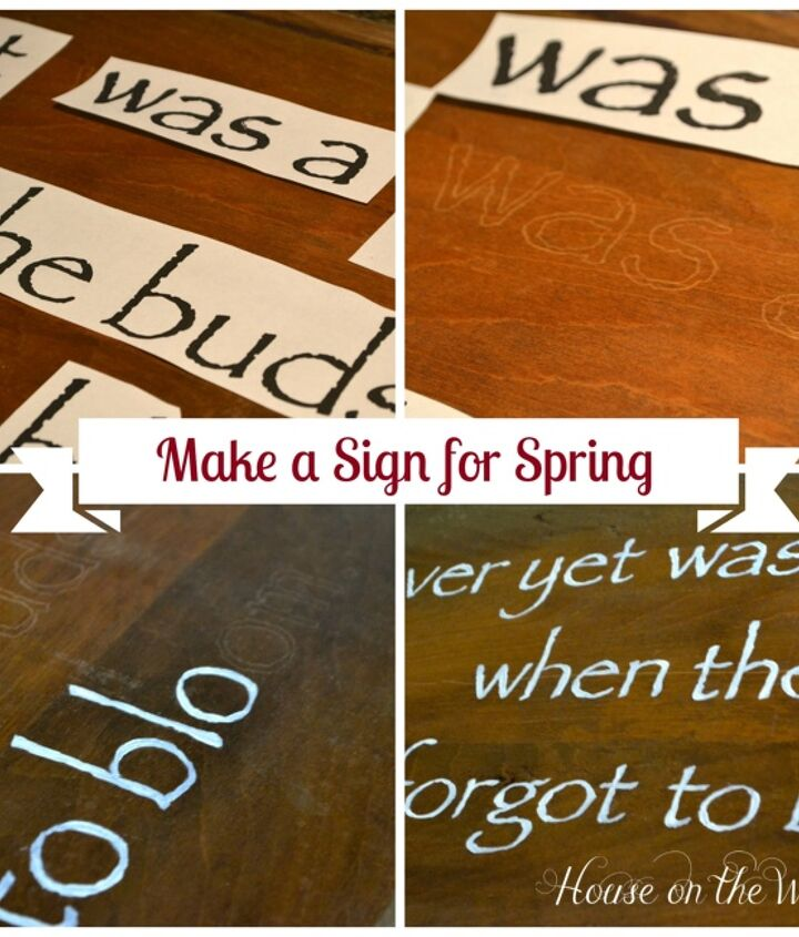 diy hand painted sign for spring, easter decorations, painting, seasonal holiday d cor