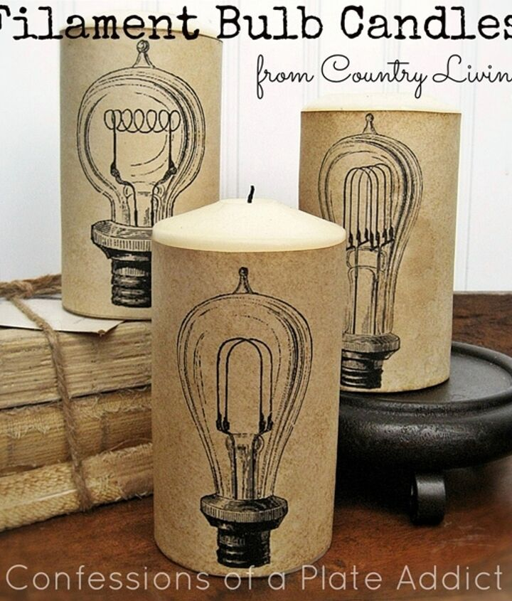 Fun, inexpensive and easy to make filament bulb candle wraps A link to free graphics is included.
