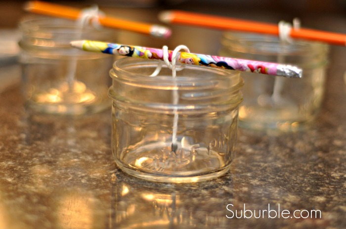 make your own beeswax candles, crafts, mason jars, Prep the candles or mason jars