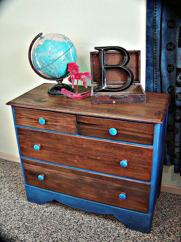 This dresser (tilt mirror not shown in this image) was my first attempt at using milk paint. This paint  is sealed using MMM hemp oil.