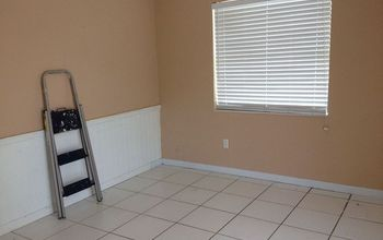 we bought a short sale part 2 the dining room, dining room ideas, diy, flooring, how to, tile flooring, move in day how it looked