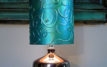 Add A Hand-Painted Raised Pattern To A Lamp Shade Using Textura Paste!