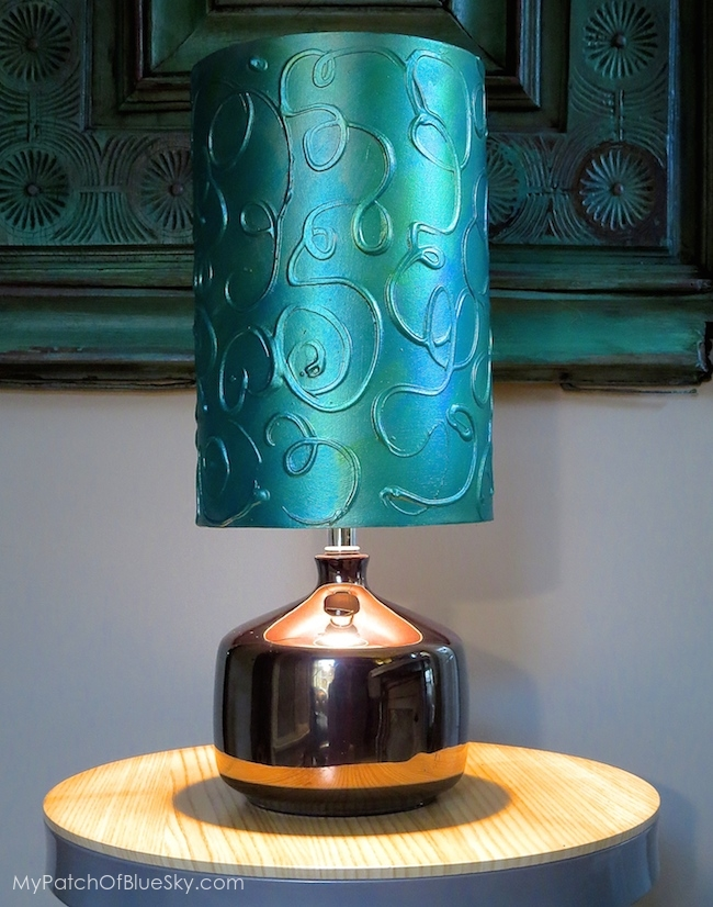 Add a hand painted raised pattern to a lamp shade using textura add a hand painted raised pattern to a lamp shade using textura paste chalk paint aloadofball Choice Image