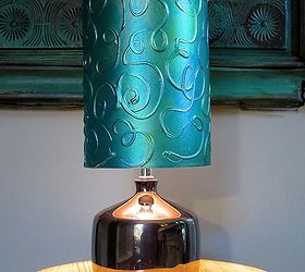 Add A Hand Painted Raised Pattern To A Lamp Shade Using Textura Paste,  Chalk Paint