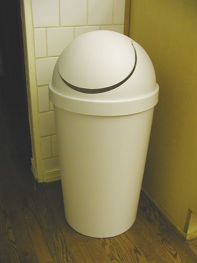 A tall plastic garbage can is just an eyesore.