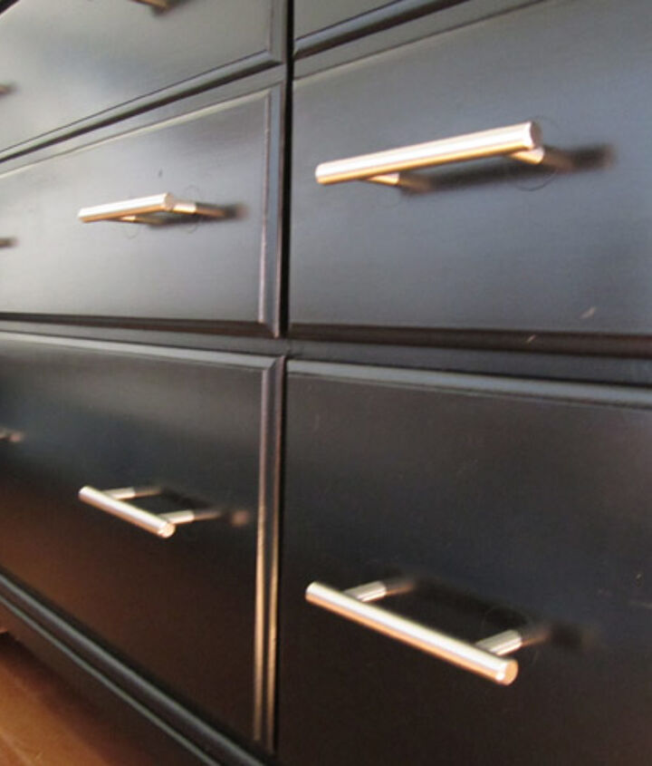 New hardware helped change the dresser from traditional to modern