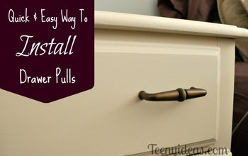 How to Install Drawer Pulls - Quick and Easy