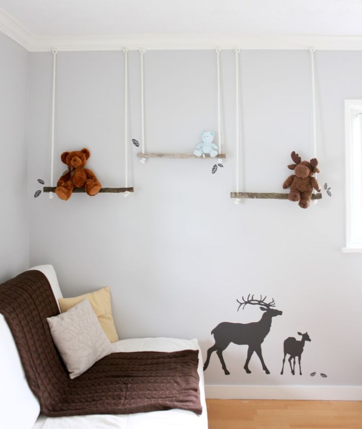 branch swing shelves, crafts, repurposing upcycling, shelving ideas