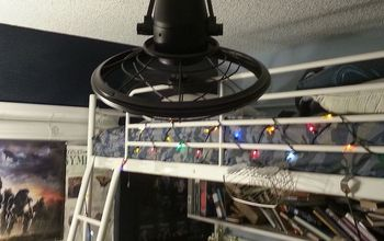 Installing an Oscillating Ceiling Fan / Fishing Wires