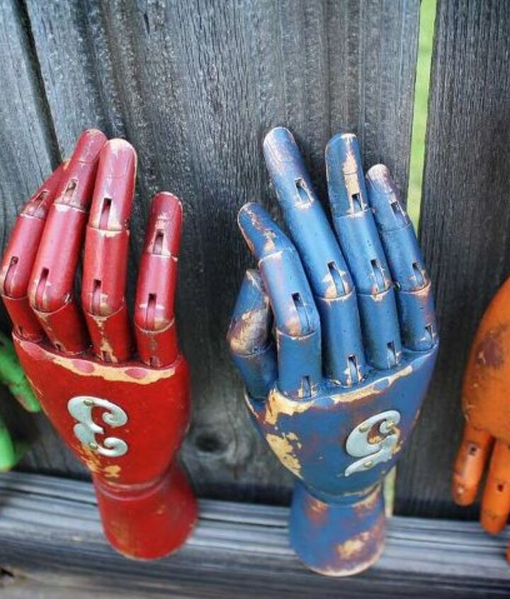 Painted & Aged Wooden Articulated Modeling Hands by GadgetSponge.com
