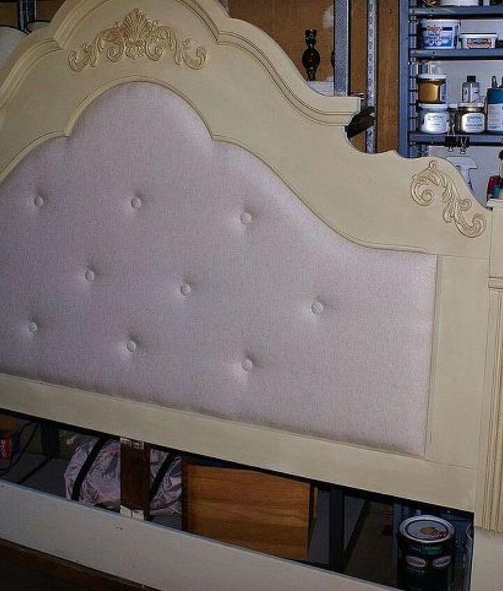 diy headboard makeover, painted furniture