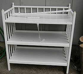 Baby Changing Table Made Into A Potter S Bench, Gardening, Painted  Furniture, Repurposing