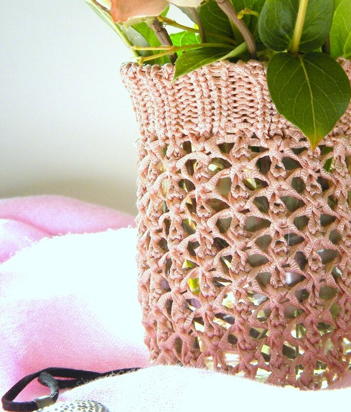recycled sweater vase, crafts, repurposing upcycling