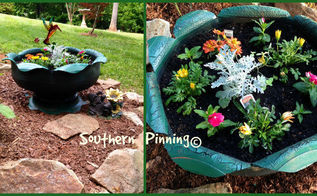 recycled tire planter project, flowers, gardening, repurposing upcycling, My mother s day planter