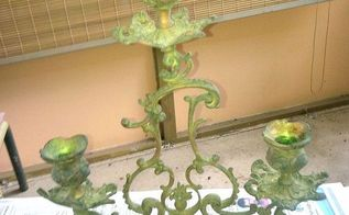 q the best way to clean up cast iron and brass, cleaning tips, painted furniture, Brass candelabra