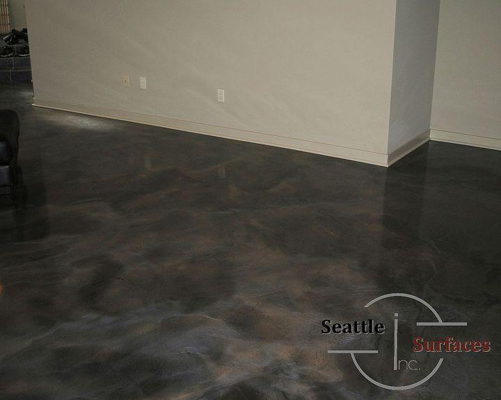 Designer Metallic Epoxy Flooring.