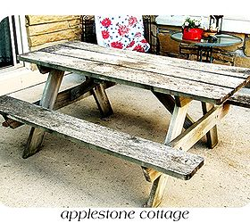 Decrepit Old Picnic Table Gets A Brand New Look, Diy, Painted Furniture,  Woodworking