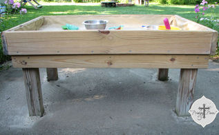 backyard fun diy style 1 sand table, diy, outdoor furniture, outdoor living, painted furniture