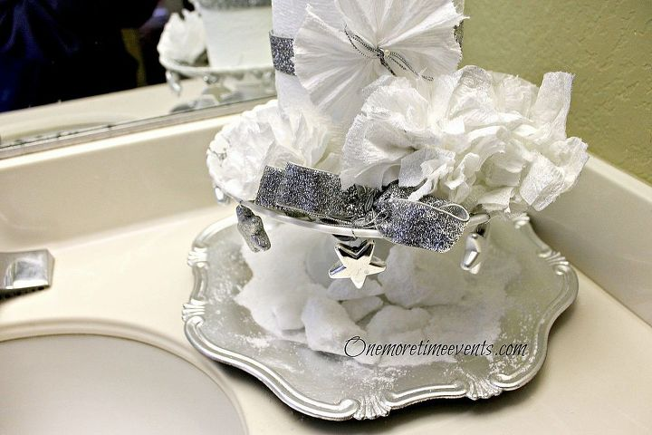 Tp flowers and small silver stars