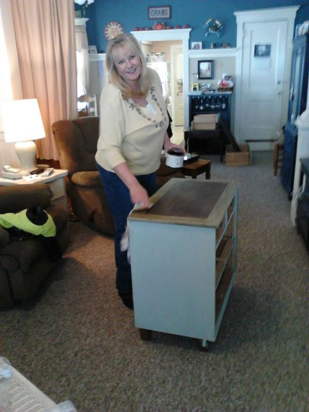 q how do i fix my dresser that i have put dark wax on, painted furniture