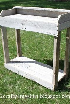 potting bench from old pallets, diy, flowers, gardening, how to, pallet