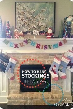 how to hang stockings the easy way, christmas decorations, seasonal holiday decor