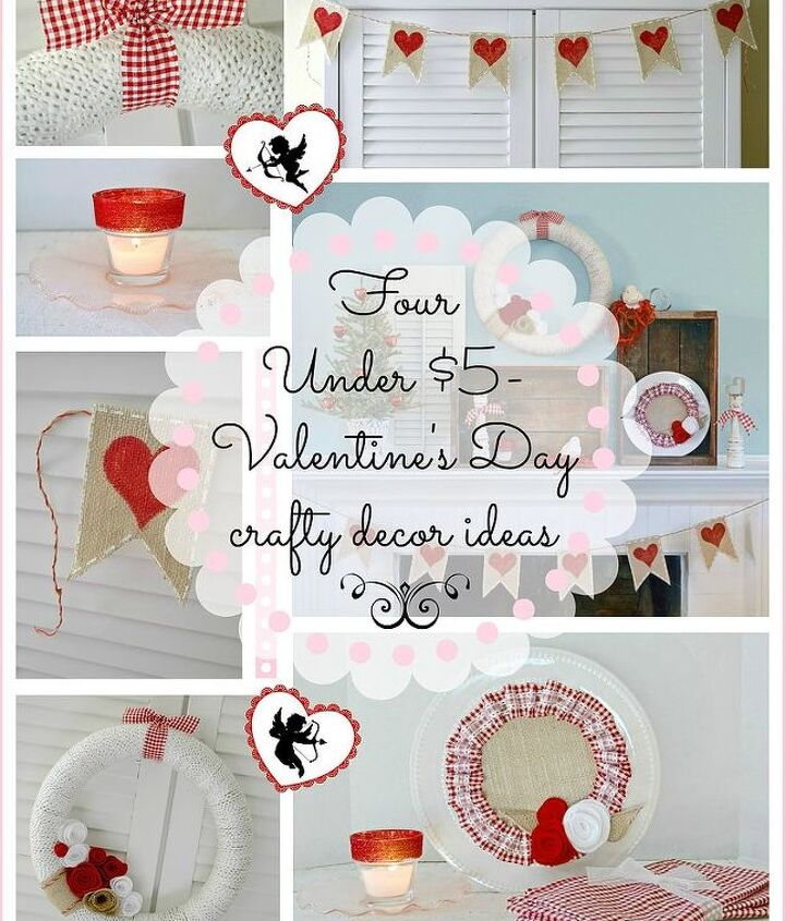 valentine s ideas 4 under 5 dollars each, crafts, seasonal holiday decor, valentines day ideas