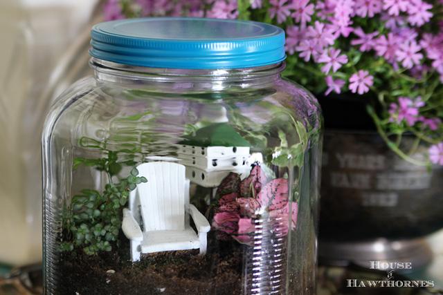 colorful terrarium tutorial, container gardening, crafts, gardening, terrarium, Colorful terrarium