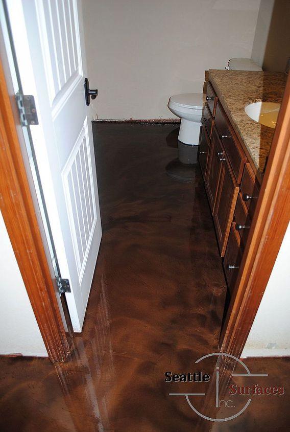 Designer Epoxy Basement Floor After Failed DIY | Hometalk