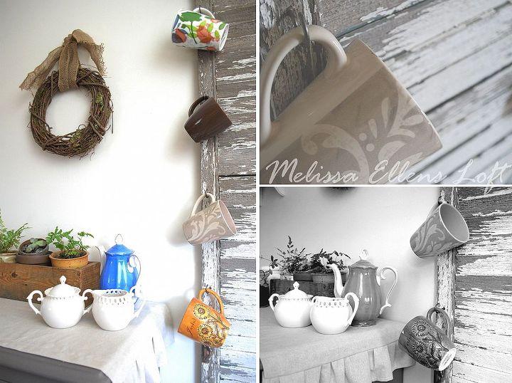 re purposed shutter mug rack, repurposing upcycling, storage ideas
