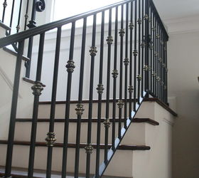 Use An Antique Garden Fence Post As An Indoor Newel Post, Repurposing  Upcycling, Stairs. Iron Stair Spindles