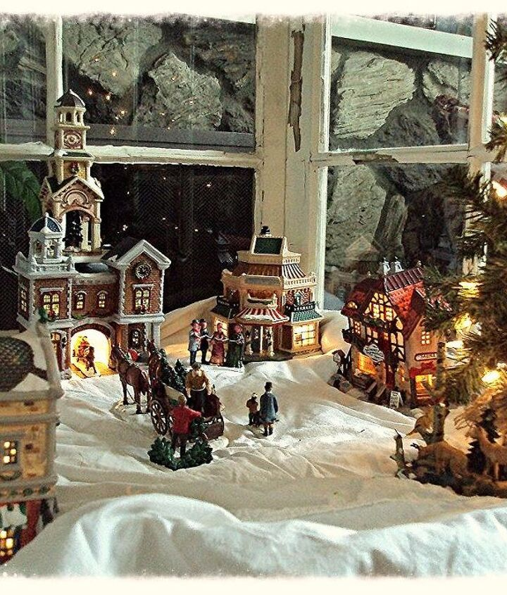 The Christmas Village in the Greenhouse