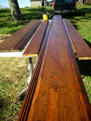 What a difference a little staining can make!