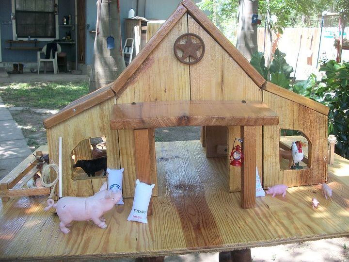 cedar barn fully loaded, diy, how to, woodworking projects