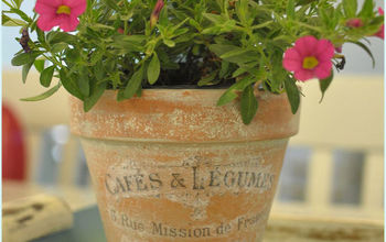 French Inspired Terra Cotta Flower Pots!
