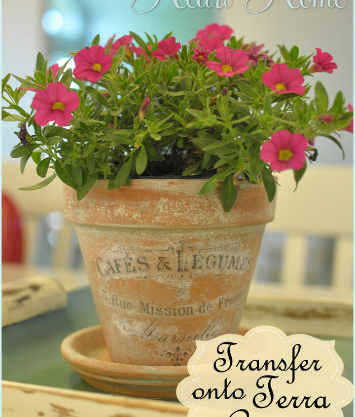 I used my DIY Aged Terra Cotta Pots, the tutorial for aging terra cotta is on the blog & on a post here on Hometalk!